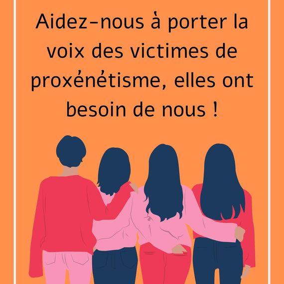 Aidez-nous à porter la voix des victimes de proxénétisme !